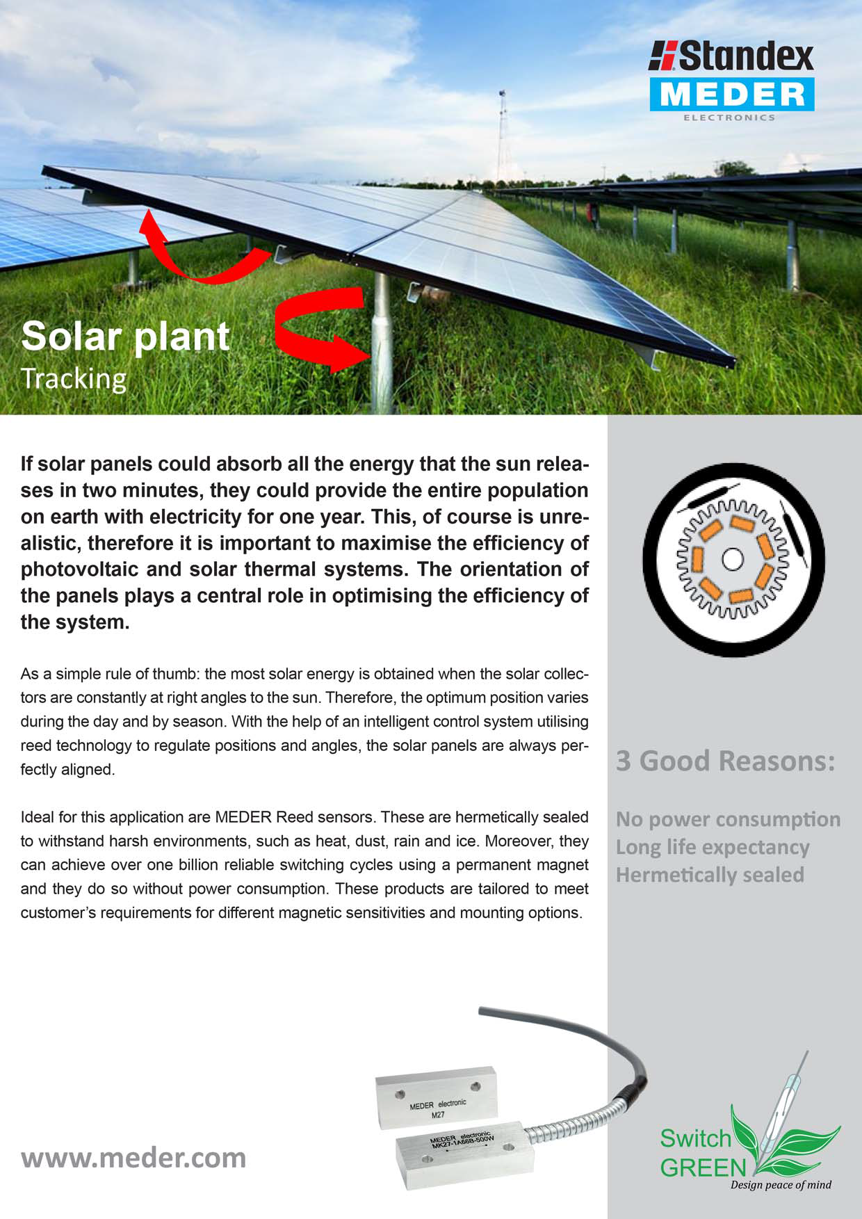 Solar Panel Tracking Systems Standex Electronics Therefore The Photovoltaic Panels Of A Powered System Use