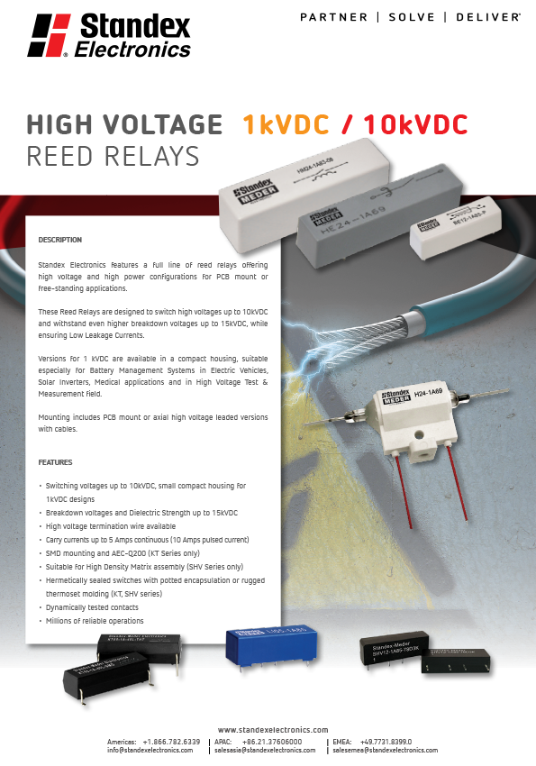 high voltage reed relays flyer