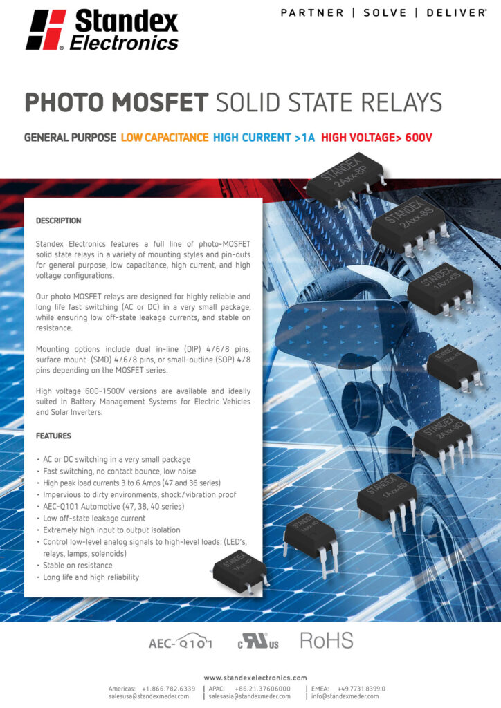 Photo MOSFET Solid State Relays flyer