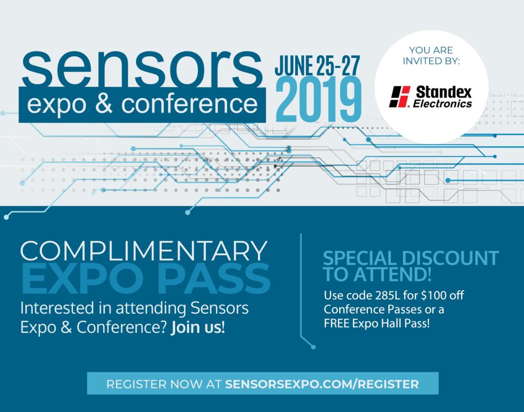 Sensors Expo 2019 - Free Pass