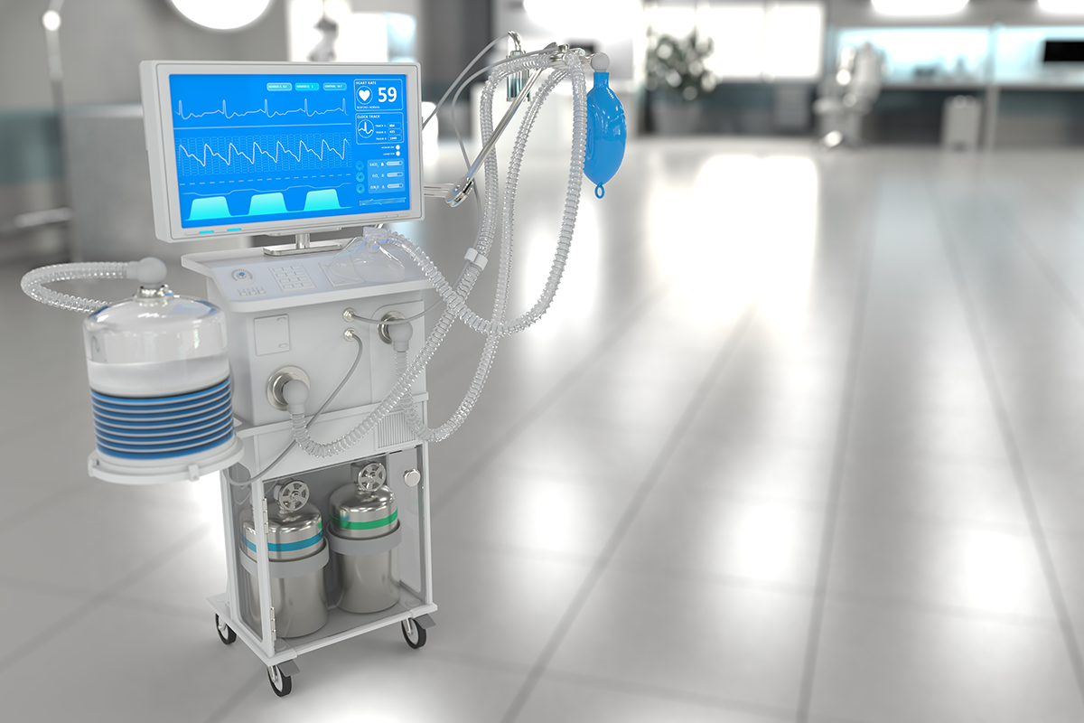 ICU artificial lung ventilator