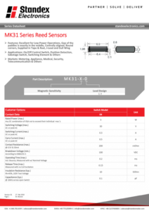 mk31 smd reed sensor series technical datasheet