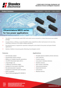 mk31 smd reed sensor product solutions flyer
