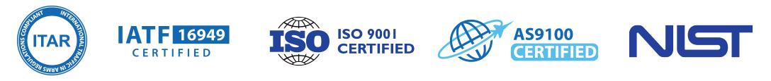 Military and Aerospace Quality AS9100, ISO9001, IATF16949, ITAR & NIST