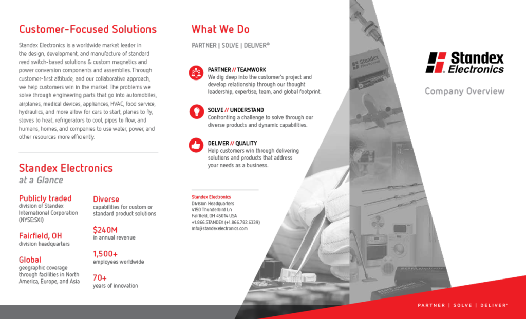 Standex Electronics Unternehmensbroschüre