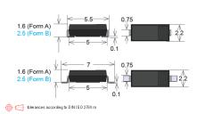 MK24 Reed Sensor Dimensions
